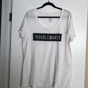 """Torrid cotton """"troublemaker"""" short sleeve top"""